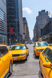Times Square New York yellow cab daylight Royalty Free Stock Photos