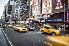 Times square, New York. Yellow taxi in Times Square, New York royalty free stock photo