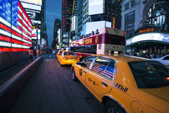 Times Square by nigh Stock Photo