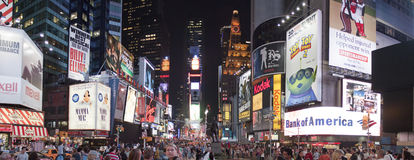 Times Square at night. Times Square in New York at night time royalty free stock images