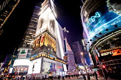 Times Square at night. Night Times Square featured with Broadway Theaters is a symbol of New York City and the United States, January 7, 2011 in Manhattan, New royalty free stock image