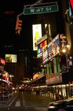 Times Square at night. Bright Lights of New York Royalty Free Stock Image
