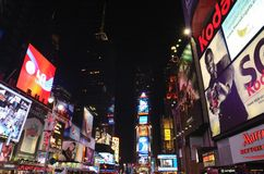 Times Square at night. Bright Lights of Times Square Stock Photos