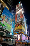 Times Square by night. Night scene of Times Square in Manhattan (New York City) with all the lit up billboards and advertisements.Photo taken on Aug 5th,2011 Stock Photography