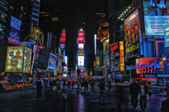 Times Square at Night royalty free stock photo