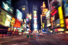 Times Square at night. In HDR stock photo