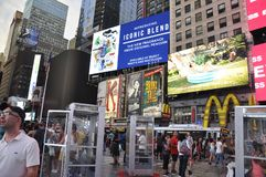 New York City, 3rd July: Times Square by night in Midtown Manhattan from New York City in United States Stock Photos