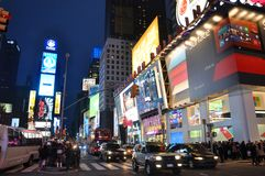Times Square at night, New York City Royalty Free Stock Photography