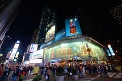 Times Square at night, New York City Stock Image