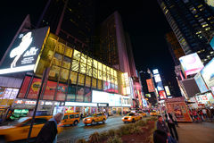 Times Square at night, New York City Stock Photo