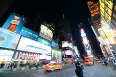 Times Square at night, New York City Stock Photos