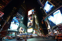 Times Square at night, New York City Royalty Free Stock Image