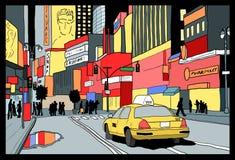 Times Square night Stock Photos
