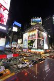 Times square night view, vertical royalty free stock images