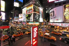 Times square night view royalty free stock images