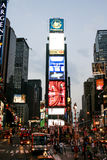 Times Square. A nighttime photo of Times Square taken in August, 2005 Royalty Free Stock Photos