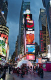 Times Square nocy widok Obrazy Royalty Free