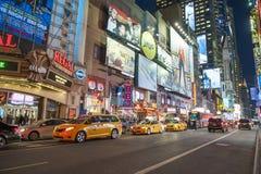 Times Square Nowy Jork, Luty - 2016 Obrazy Royalty Free