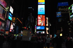 Times Square Nowy Jork noc Obraz Stock