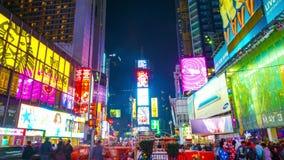 Times Square Nueva York almacen de metraje de vídeo