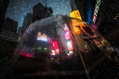 Times Square in NYC stockbilder