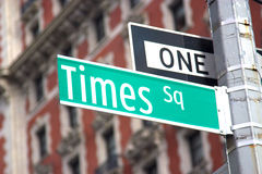 Times Square, NYC. Times Square street sign located in midtown Manhattan, New York stock image