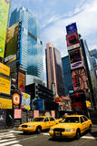 Times Square, NYC. Neon signs on Times Square, New York city stock photo