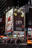 Times Square, NYC. Broadway billboards adorn Times Square in downtown Manhattan, NYC royalty free stock photos