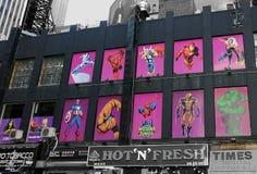 Times Square NYC dei fumetti di Midtown fotografia stock libera da diritti