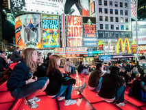 Times Square NYC. At night Stock Photography