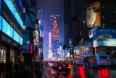 Times Square. NYC at night Stock Photos