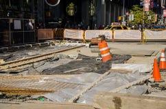 Times Square onder reparatie Stock Afbeeldingen