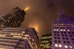 Times Square oscuro Imágenes de archivo libres de regalías