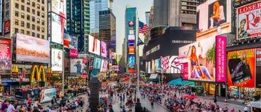 Times Square-Panorama Lizenzfreie Stockfotos