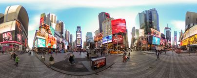 Times square 360. 360 panorama of new york times square stock images