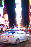 Times Square. The Police Car on the Time Square Royalty Free Stock Images