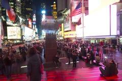 Times Square przy Noc obrazy royalty free