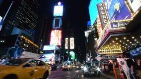 Times Square puro de New York City da noite filme