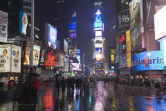 Times Square on a rainy night Royalty Free Stock Image