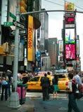 Times Squareschnitt New York Stockfotografie