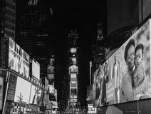 Times Square in Schwarzweiss Stockbild