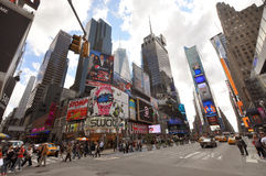 Times Square, settimo viale, New York City Fotografia Stock