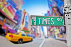 Times Square. Sign in New York City stock photo