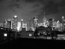 Times Square skycreapers widok od budynku dachu fotografia royalty free