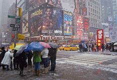 Times Square Snow Royalty Free Stock Image