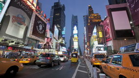 Times Square-Sonnenuntergang stock video