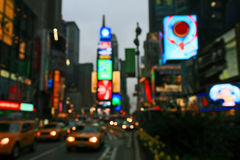 The Times Square -special effect. The Times Square - out of focus effect - perfect for stock image Royalty Free Stock Photos