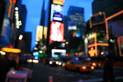 The Times Square -special effect. The Times Square - out of focus effect - perfect for stock image stock photo