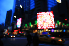 The Times Square -special effect. The Times Square - out of focus effect - perfect for stock image Stock Image