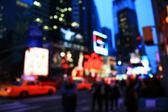 The Times Square -special effect. The Times Square - out of focus effect - perfect for stock image Stock Photography